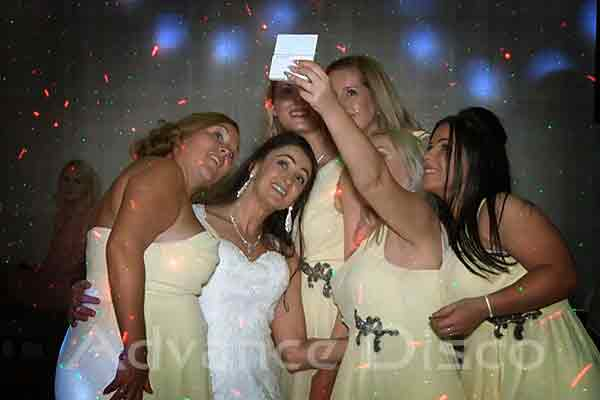 Bridemaids taking a selfie photo