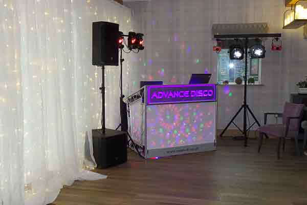 Advance Disco ready to party in the Candle Room.