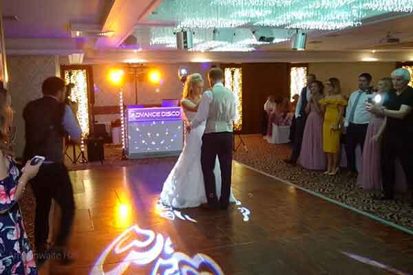 Bridal couple dancing at Armathwaite Hall Hotel, Keswick.