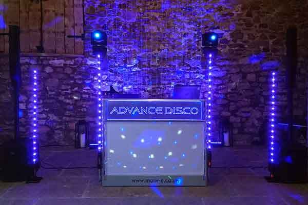 Advance Disco ready to start at Eden Barn, Little Musgrave.