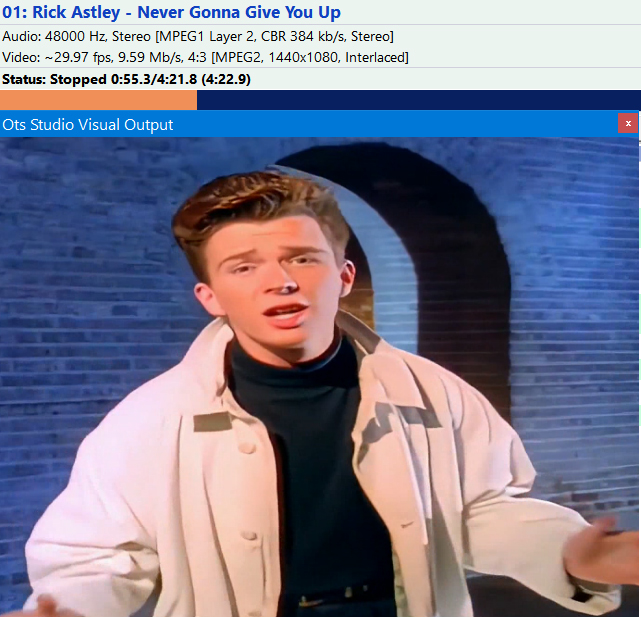 Rick Astley's iconic music video